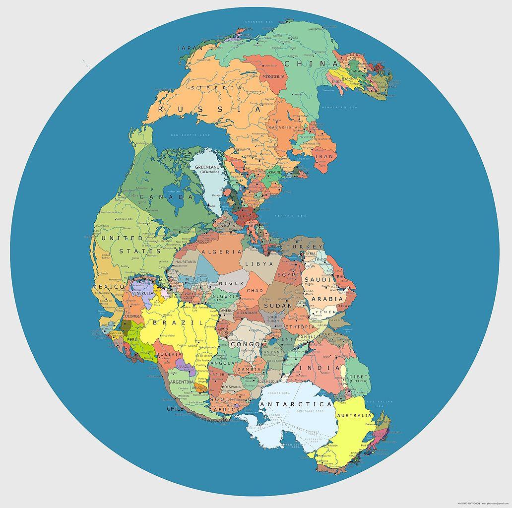 Permian political map