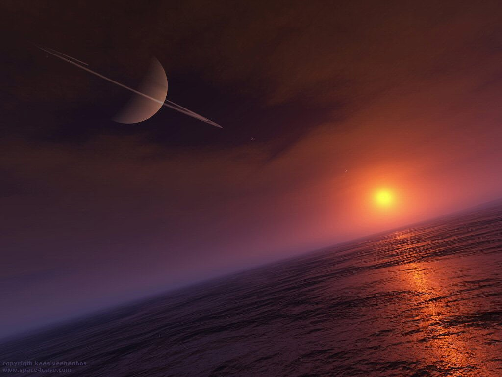 Saturn from Titan