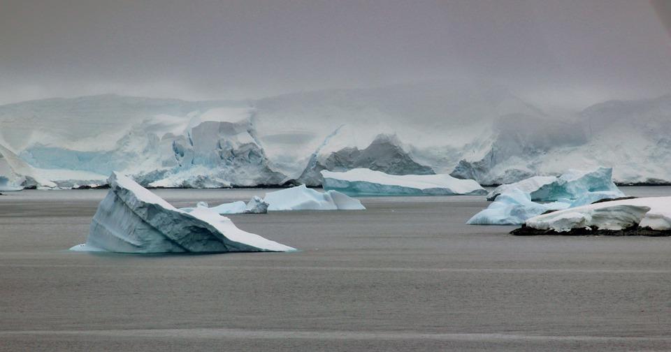 Antarctic glaciers and icebergs