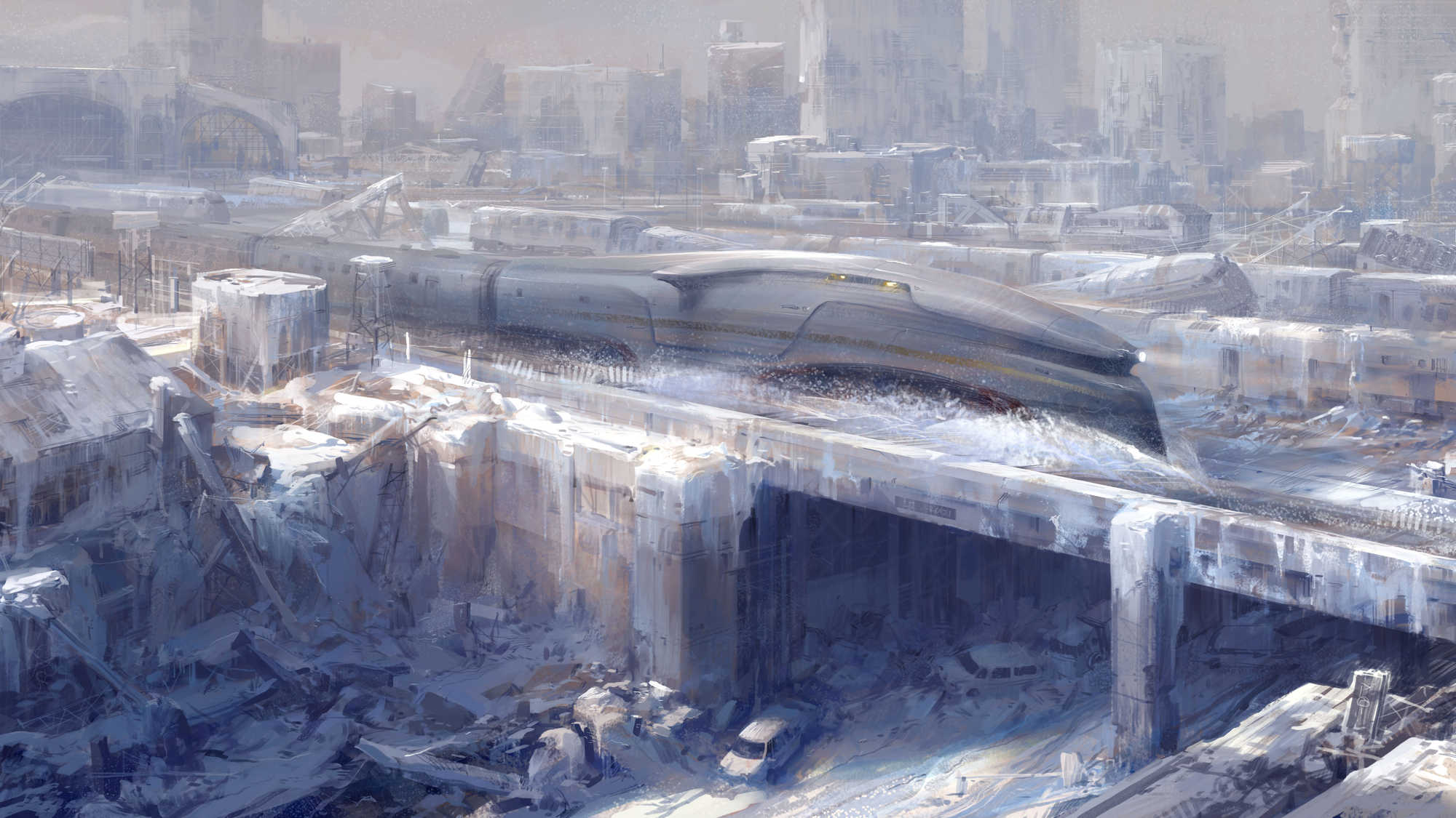 Concept art from the movie Snowpiercer