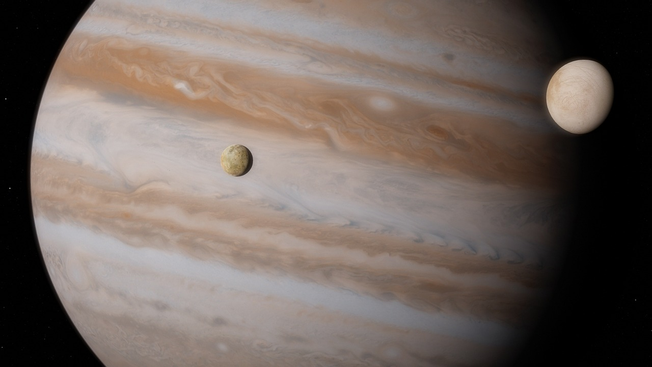 upiter with Io and Europa