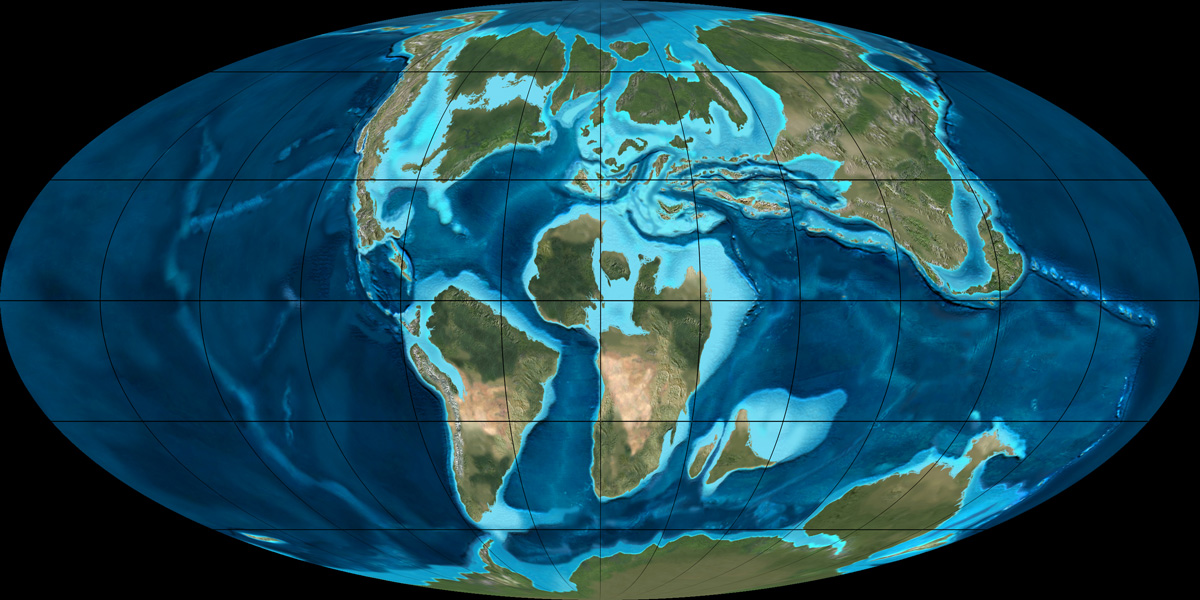 Cretaceous World Map
